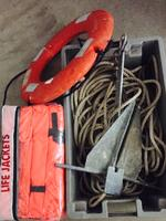 WEST MARINE ANCHOR, ROPE & PFD