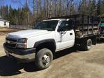 2006 Chevrolet 3500 4wd Rack Body, w/ Lift-gate & Plow