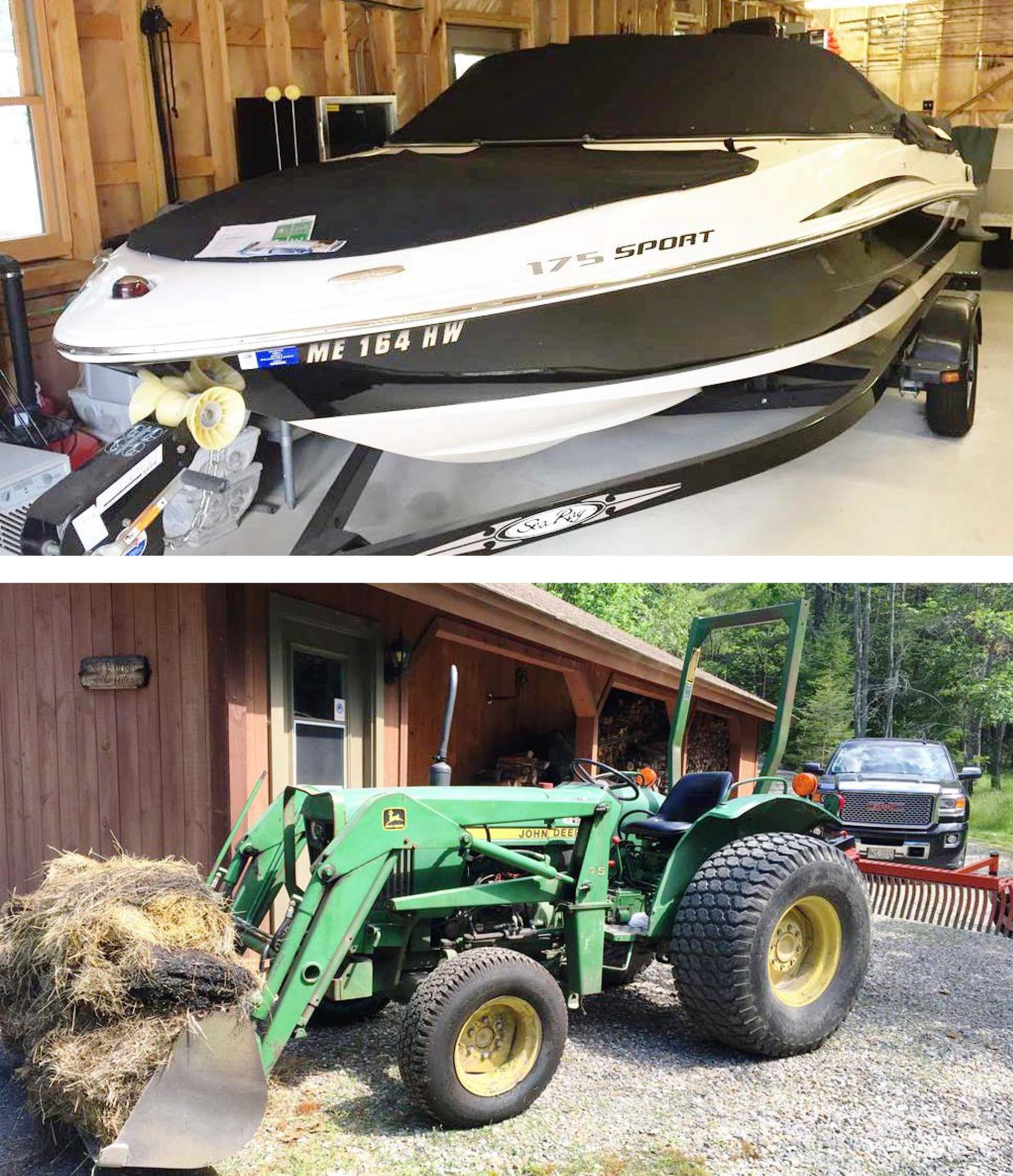 ONSITE & ONLINE AUCTION  09 SEA RAY 175SPORT, TRACTOR, SLEDS, SHOP EQ Auction