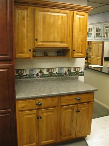 Auction 17 115 Aristokraft Cabinetry Rustic Birch W Autumn Stain Timed Online Auction Showroom Kitchen Bath Displays Appliances