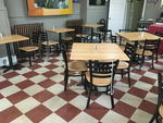 SINGLE PEDESTAL TABLES & CHAIRS Auction Photo