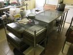 WIRE CART - STAINLESS STEEL TABLES Auction Photo