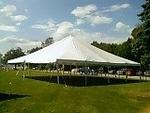 TIMED ONLINE AUCTION TENT RENTAL INVENTORY, CHAIRS, TABLES & TRAILER Auction Photo