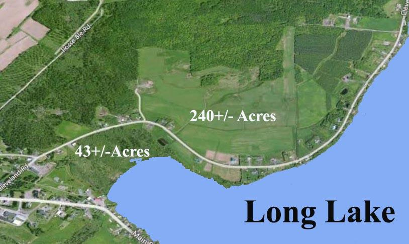240+/- Acres Farm/Development land & 43+/- Acres Long Lake Waterfront  Auction