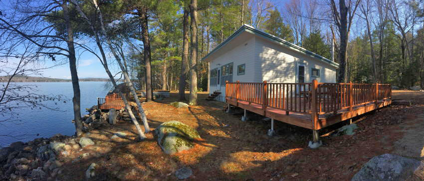 Classic Maine Lakefront Cottage ~ Long Lake - Mt. Washington Views Auction