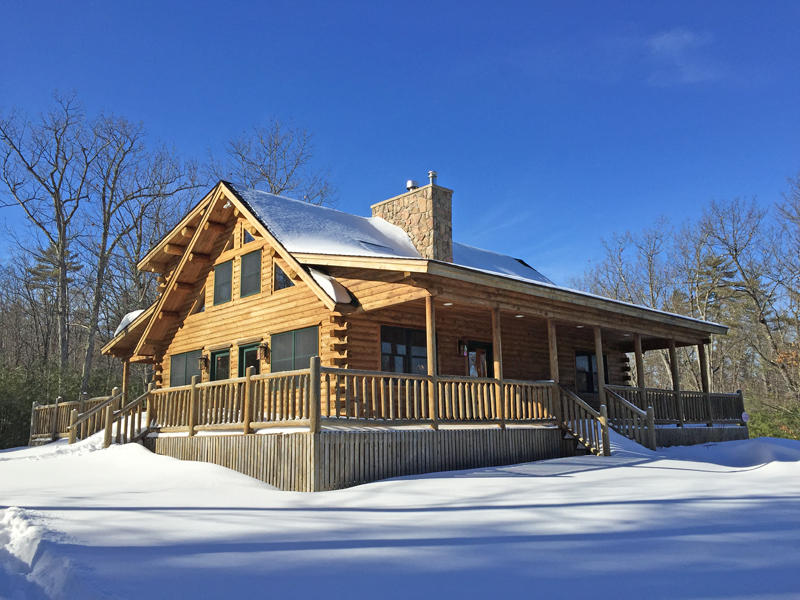 Katahdin Cedar Log Home - 5.37+/- Acres Auction