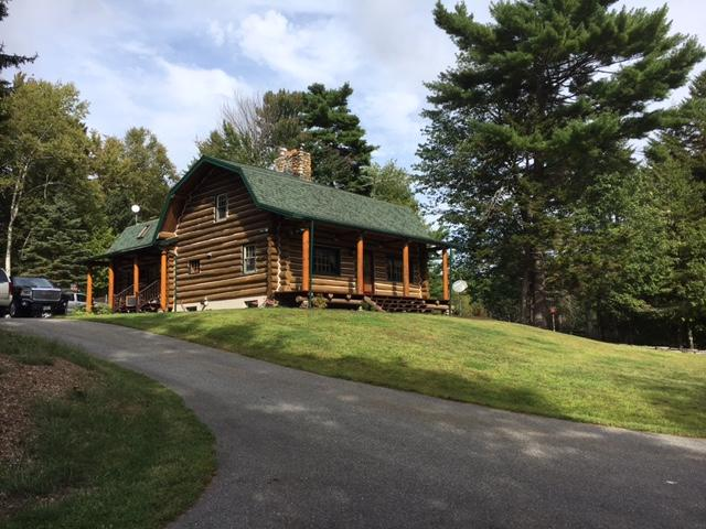 Custom Log Home - 72.5+/- Acres - Pond, 48 East Buskport Rd., Orrington, Maine Auction
